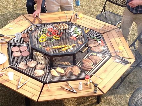 bbq table tables and grilling on