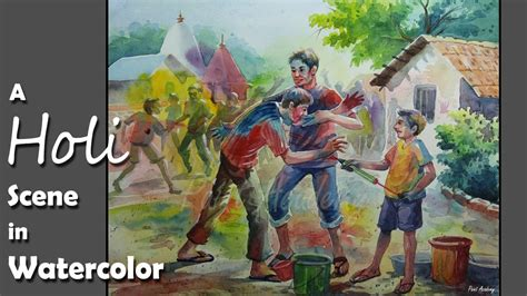 festival of colors books watercolor painting a composition on holi festival of