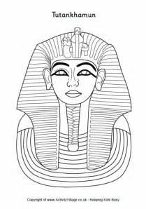 king tut mask template tutankhamun colouring page