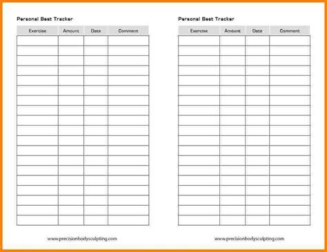 8 workout tracking sheet newborneatingchart