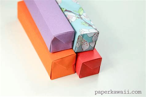Origami Pill Box - origami pencil box tutorial paper kawaii