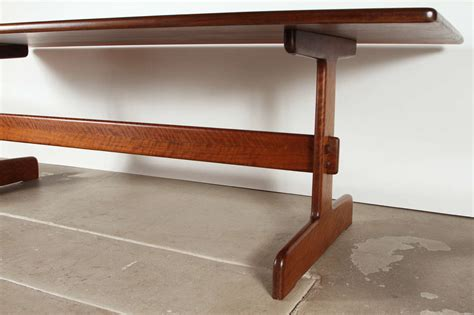 trestle table with bench dining table trestle dining table with bench