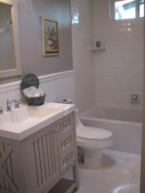 gray guest bath traditional bathroom los angeles