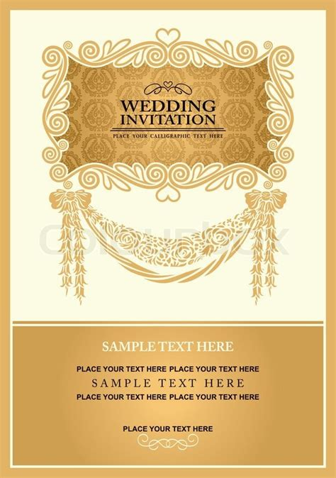 invitation card design gold wedding invitation card abstract background vintage