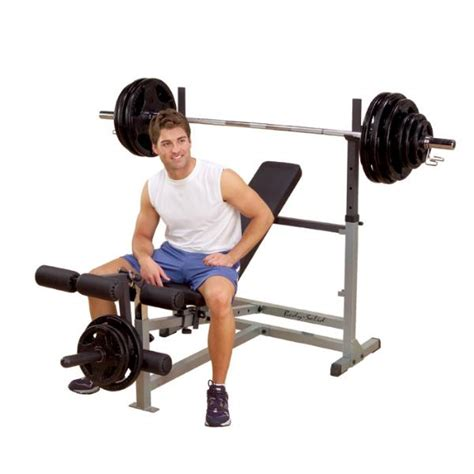 exercises on bench body solid gdib46l powercenter olympic combo weight bench