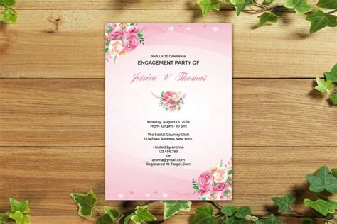 customizable invitation templates 20 engagement invitation template word indesign and psd