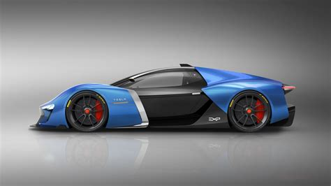 tesla supercar designer dreams up futuristic tesla supercar