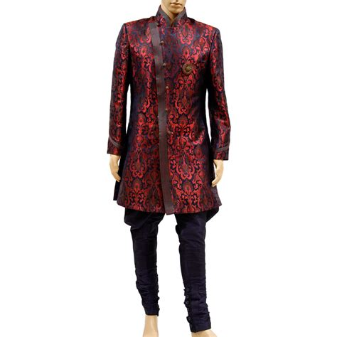 Kina Maroon aum design s kin khab modernistic indo western maroon