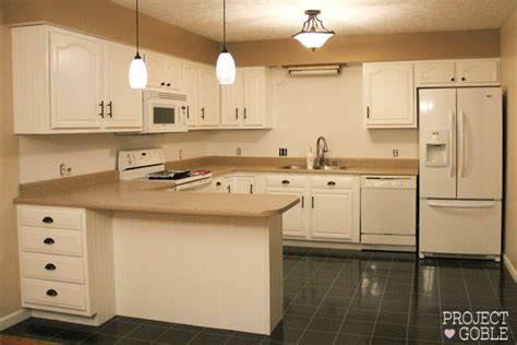 Used Kitchen Cabinets And Countertops by Kitchen Transformation White Cabinets Painted Counters