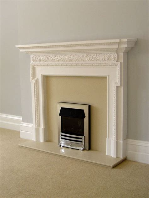 Plaster Fireplaces by Plaster Surrounds And Marble Backs And Hearths From