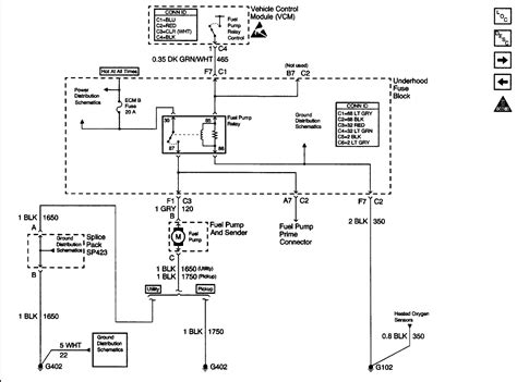 wiring diagram for an electric fuel and relay