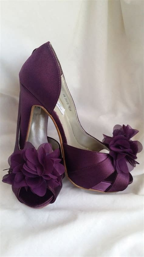 Purple Bridal Shoes by Purple Wedding Shoes Eggplant Bridal Shoes Dyeable By