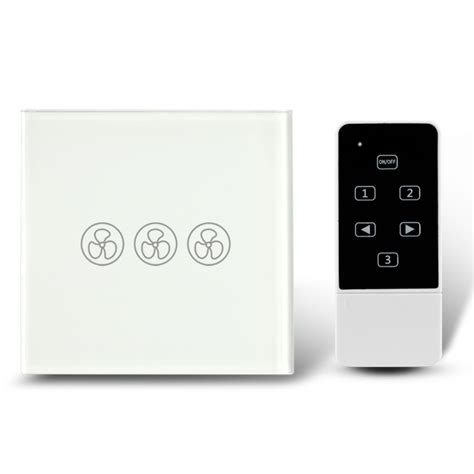 smart fan switch smart home ceiling fan speed touch switch and remote