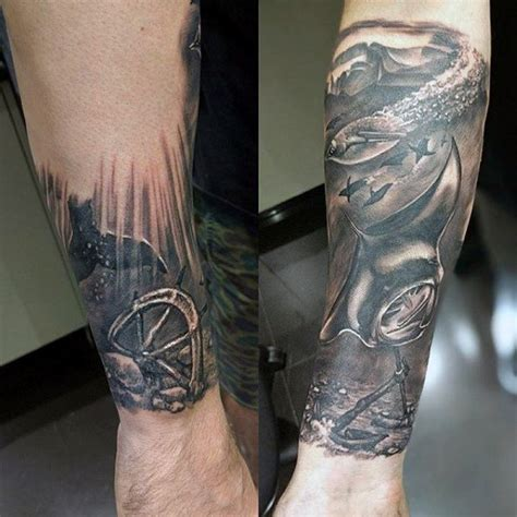 sunken ship tattoos 100 nautical tattoos for slick seafaring design ideas