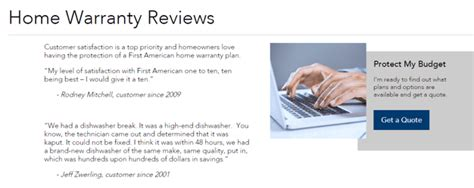 american home warranty reviews get home protection plans