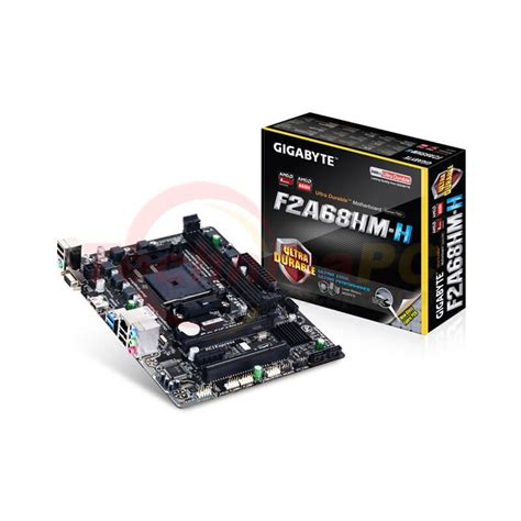 Terlaris Gigabyte Motherboard Socket Fm2 Ga F2a68hm H Resmi gigabyte ga f2a68hm h socket fm2 fm2 motherboard
