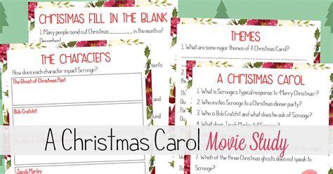 printable version of a christmas carol a christmas carol movie unit study