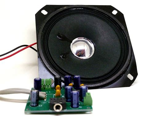 audio speaker capacitors component kit for getting started with electronics electronics infoline