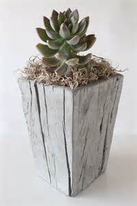 cast wood planter small nativecast