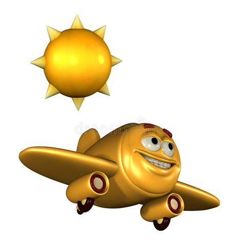 clipart aereo aereo felice emoticon illustrazione di stock