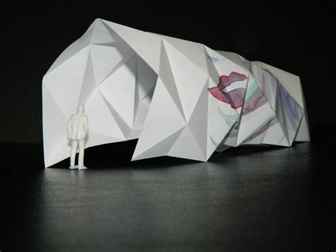 Origami Concept - an origami model that explores creating repetitive angles