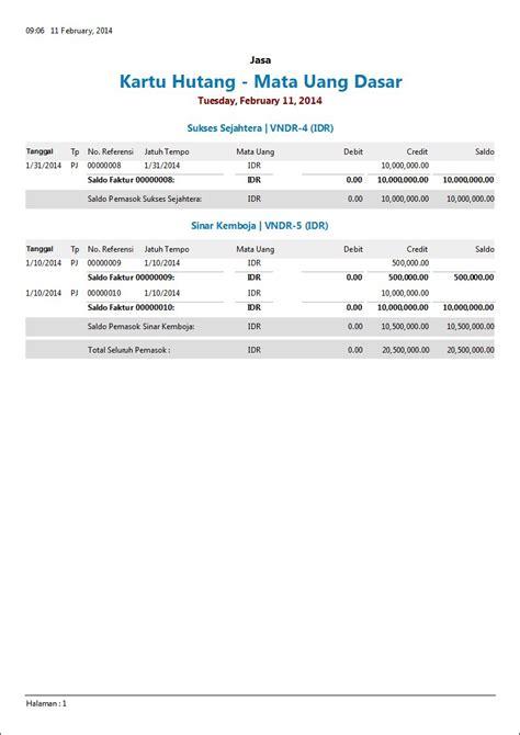format laporan hutang piutang contoh laporan keuangan perusahaan jasa