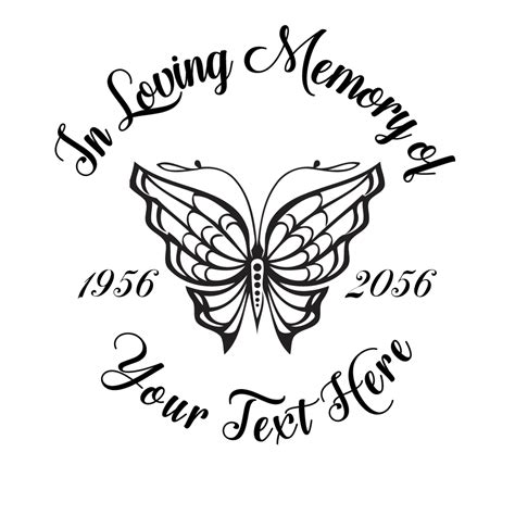 in loving memory butterfly decal photomal com