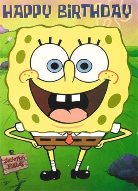 spongebob birthday card