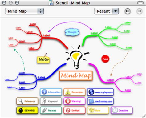 visio mind map template atpm 10 08 atpo mindmapping outliners