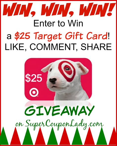 Target Christmas Giveaway - giveaway win a 25 target gift card super coupon lady