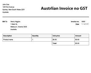 gst invoice template nz printable receipt template