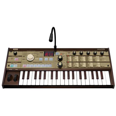 Keyboard Korg Synth korg microkorg vintage gold synthesizer vocoder musician s friend