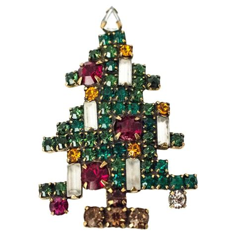 60s weiss christmas tree brooch for sale at 1stdibs