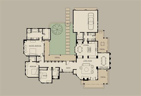 hacienda style homes floor plans u shaped houses on pinterest house plans floor plans