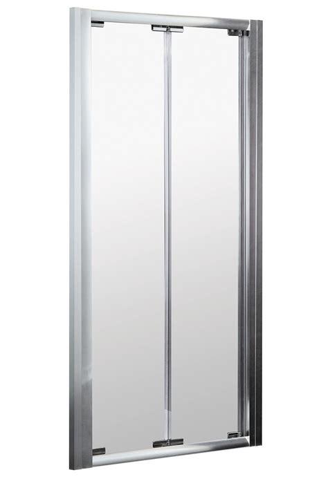 Bi Fold Shower Door 900mm Ella 900mm Bi Fold Shower Door Satin Chrome Erbd90