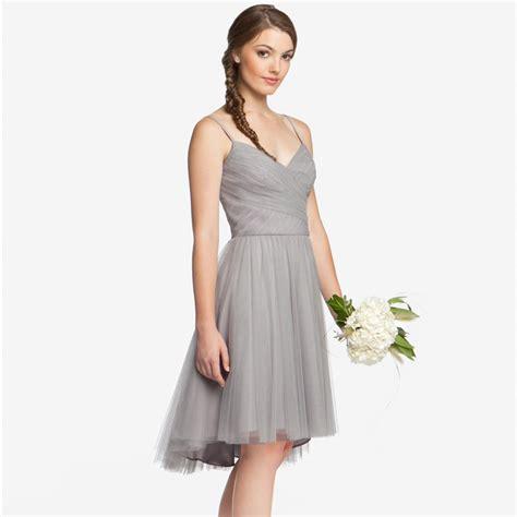 Silver Bridesmaid Dress by Popular Grey Silver Bridesmaids Dresses Buy Cheap Grey