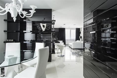 black white dining room interior design ideas