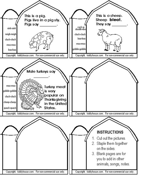 Farm Worksheets Preschool by Farm Worksheets