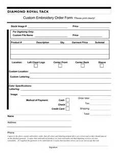 embroidery order form template free best photos of special order form embroidery embroidery