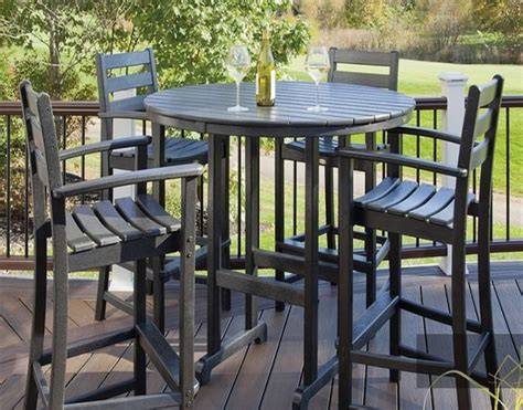 Chic And Stylish Tall Patio Table Outdoor Decorations Patio Table And Chairs For Sale