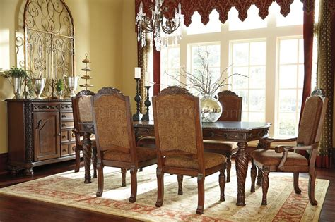 north shore dining room set north shore dining table d553 35 dark brown ashley furniture