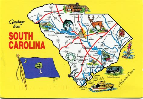 map usa carolina south carolina map remembering letters and postcards