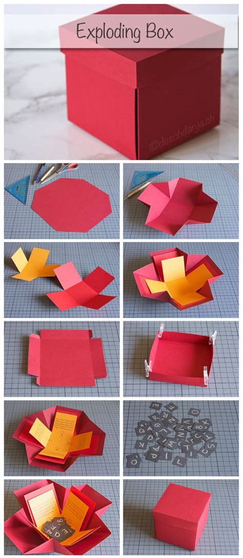 how to make explosion box handmade birthday card 25 best ideas about explosion box on diy