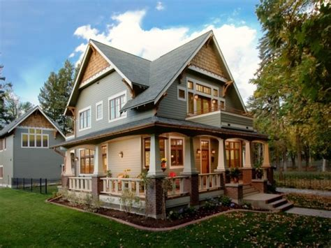 craftsman house plans with porch craftsman style homes wrap around porch ranch style homes