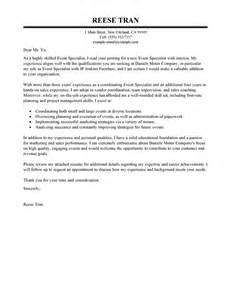 Leading Professional Event Specialist Cover Letter