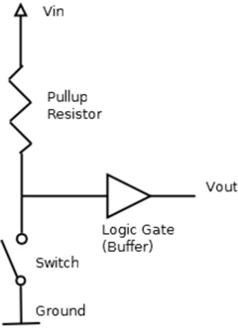 how to use pull up resistors arduino playground pullupdownresistor