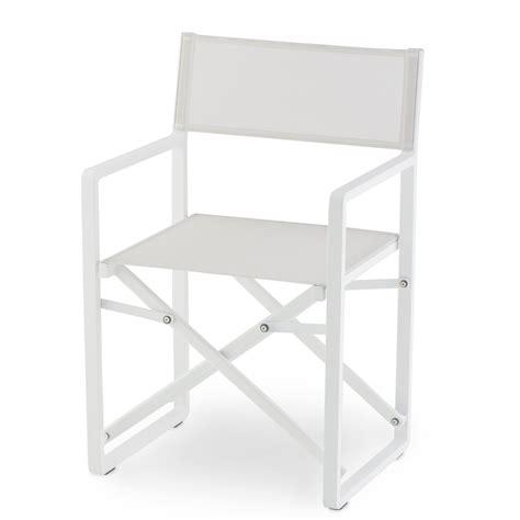 sedia regista alluminio sedia regista in alluminio bianco gs 945 arredas 236