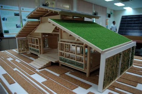 green design house bamboo house design miniature green house design