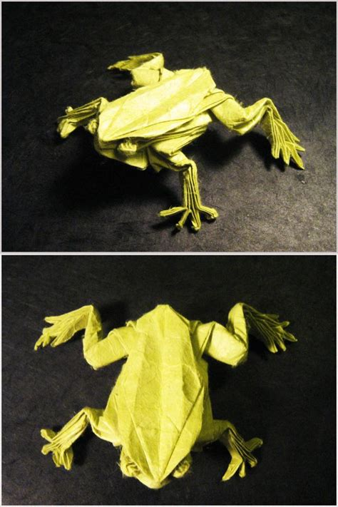 Origami Tree Frog - origami tree frog by lexar on deviantart