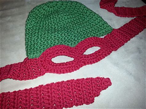 crochet pattern ninja turtle mask ravelry ninja turtle hat mask pattern by jaime george